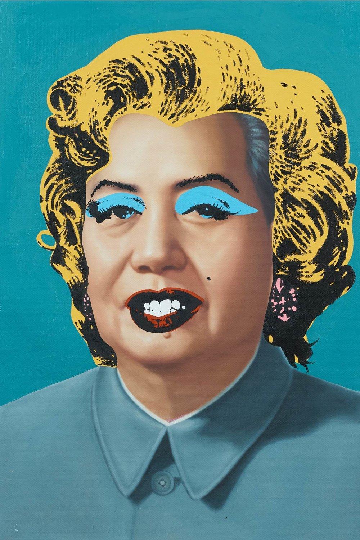 Custom Mao Zedong (Turquoise Marilyn), 2016