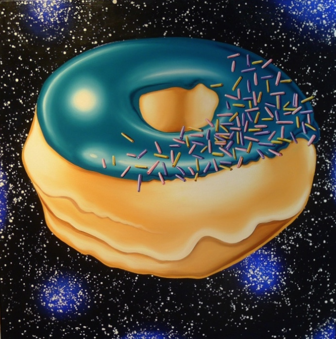 Teal Glazed with Sprinkles in Sparkling Space, 2016