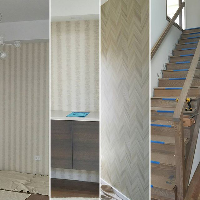 Elysian Way Wallpaper and Stairs  #elysianway #homesbyinsignia #deerfield #northshorenewconstruction #realestatedevelopment #grandopeningsept11th  @bethwexler @caegley @kjflashner