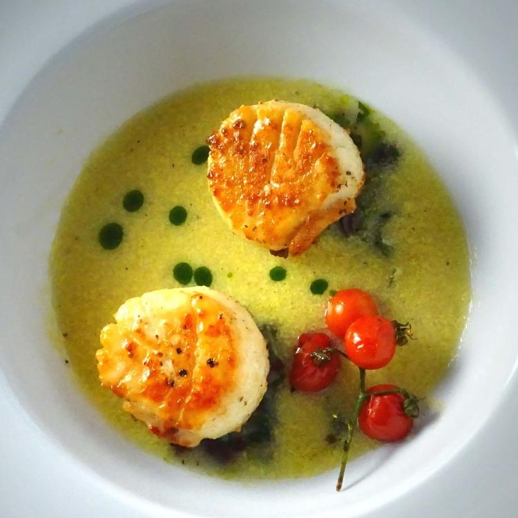 Summer Scallop Corn Soup