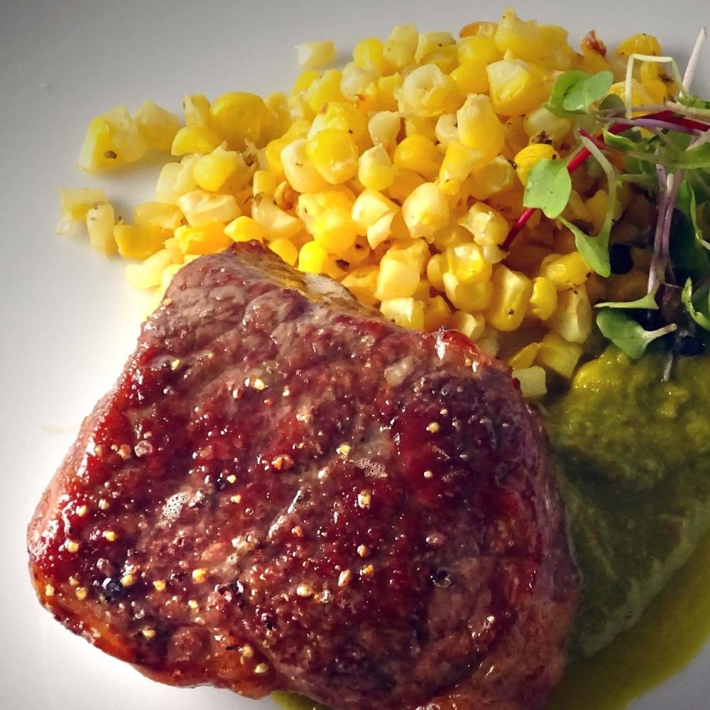 """Dry Aged"" Sous Vide NY Strip Steak"