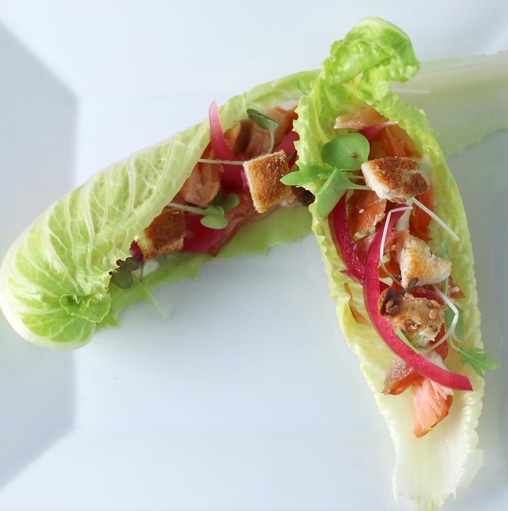 Smoked Salmon Lettuce Wrap