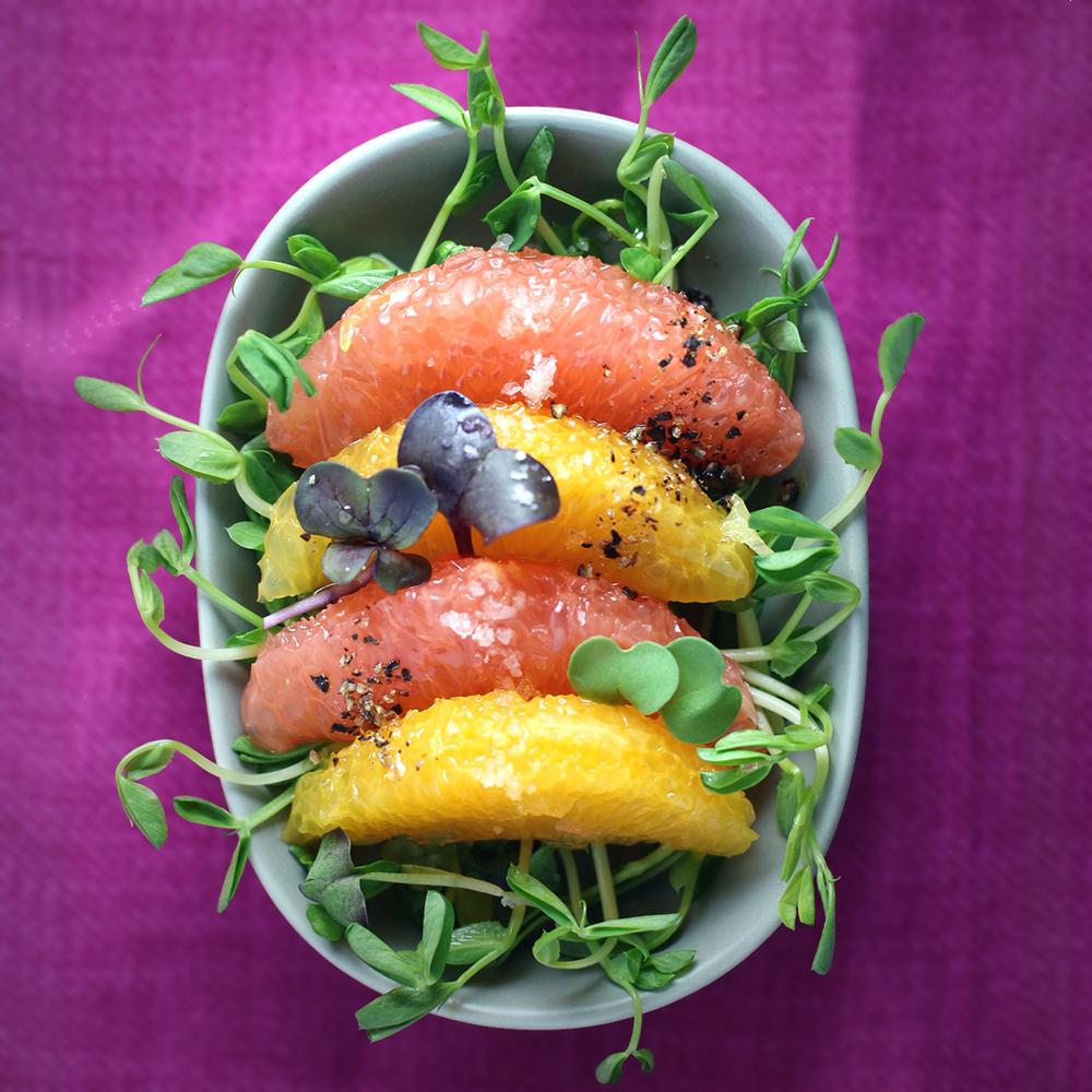 Citrus & Pea Shoot Salad