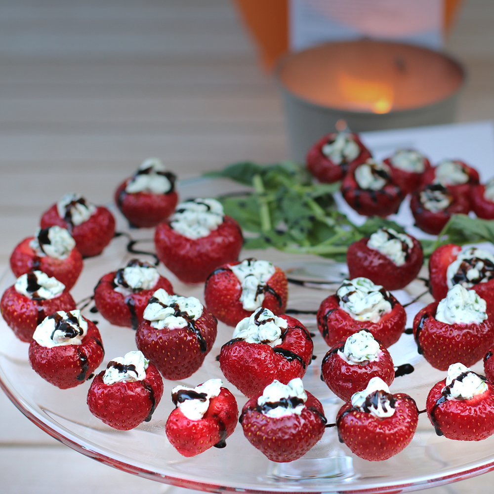 Strawberries & Chevre