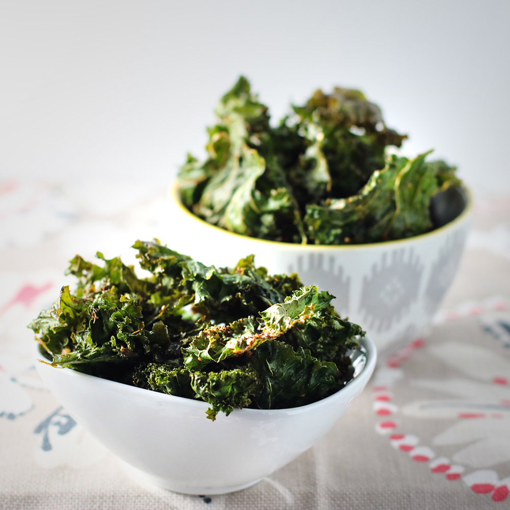 Kale Chips Two Ways