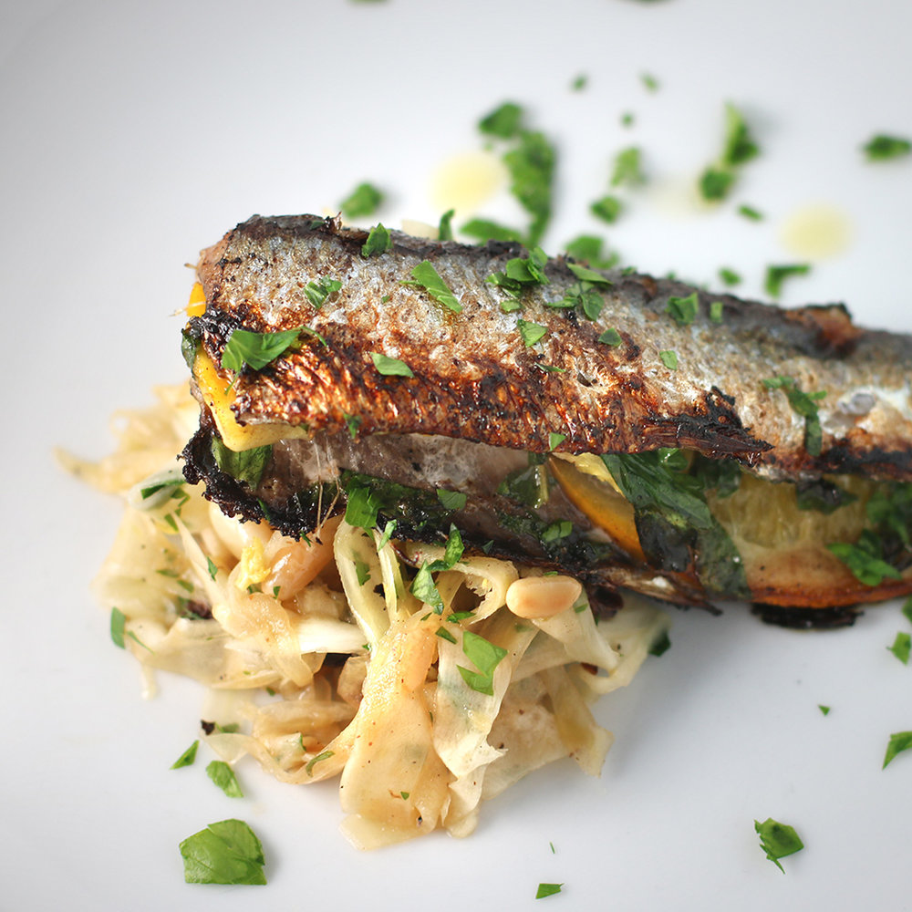 Lindsay's Favorite Dish - Stuffed Sardine with Fennel Slaw