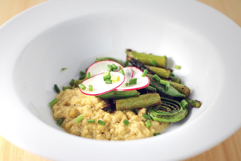 Spring Vegetable Polenta