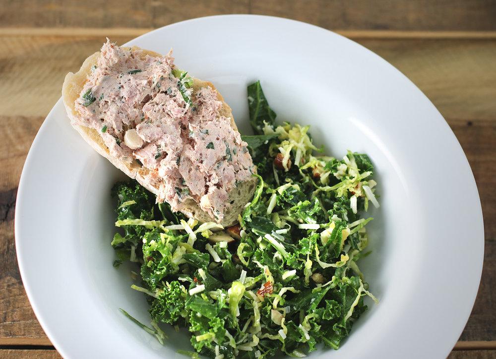 Ham Salad on Toast