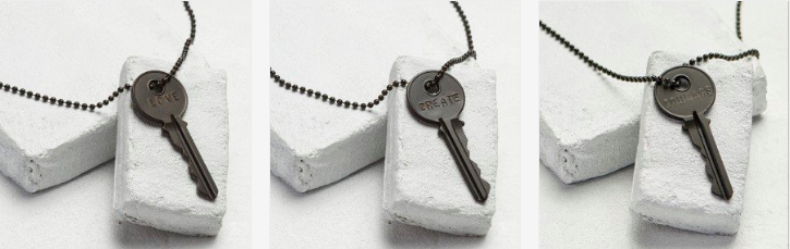 THE GIVING KEYS - Classic Necklace - Matte Black  $42
