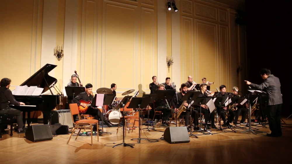 Conducted my original piece at New England Conservatory Pierce Hall