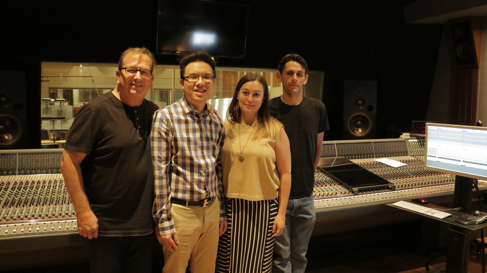 With Peter Rotter & Ashley Olauson from PR Music Services and Engineer Milton Gutierrez.