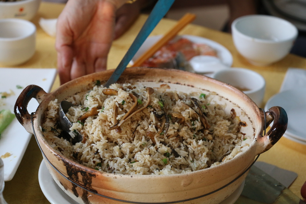 eel claypot rice!