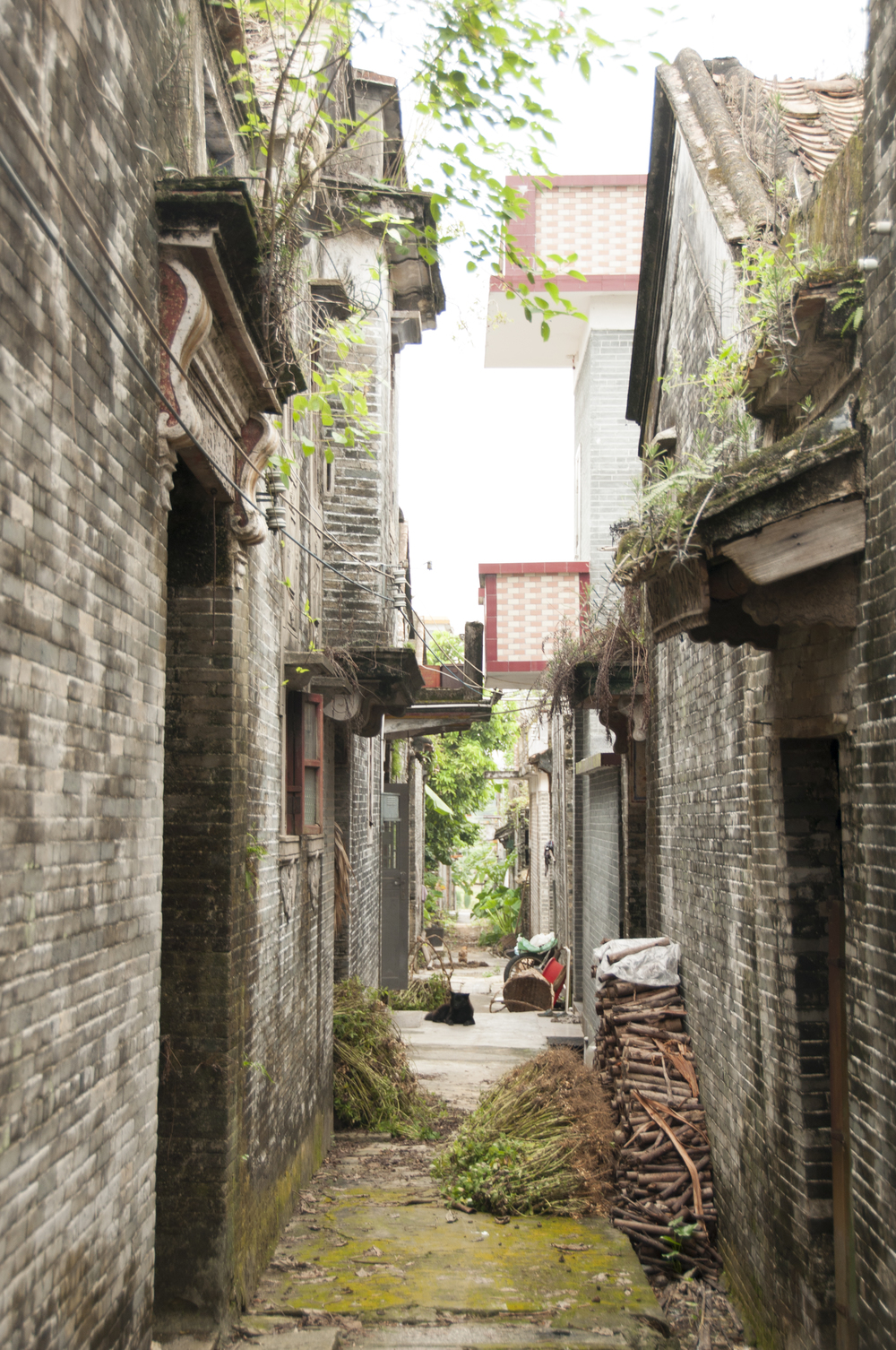 A deserted alleyway in Bok Saa, Toisan