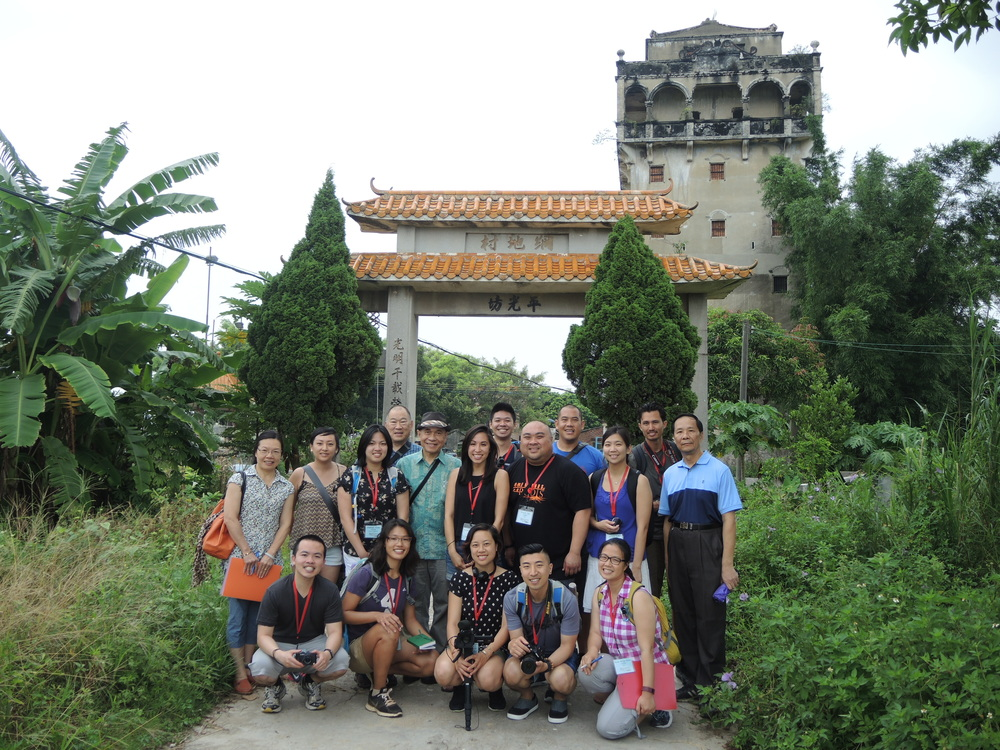 The 2015 Roots cohort in front of Michelle's maternal grandmother's village, Bok Saa