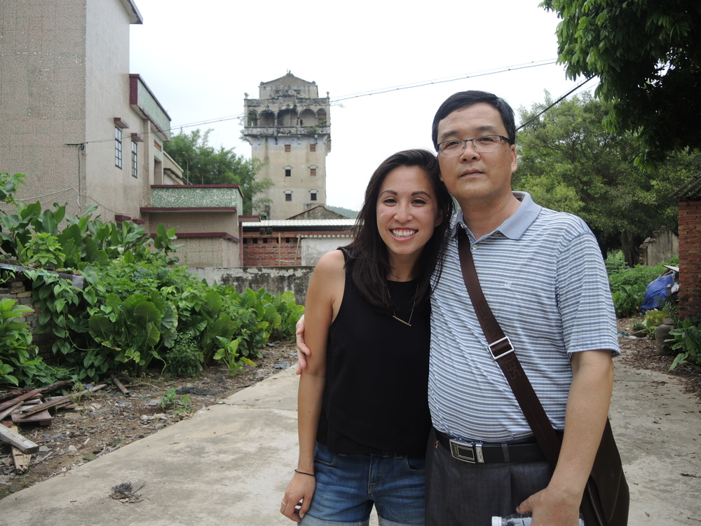 Michelle and Mr. Yang, a Toisan official