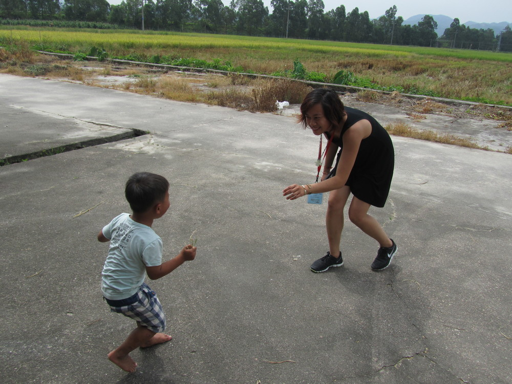 Dance battle with youngest member of the village.