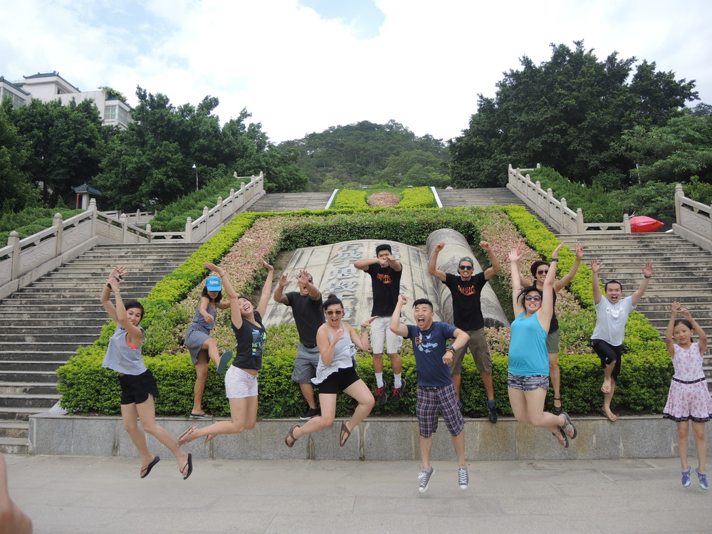 Jumping for joy in Chao Shan