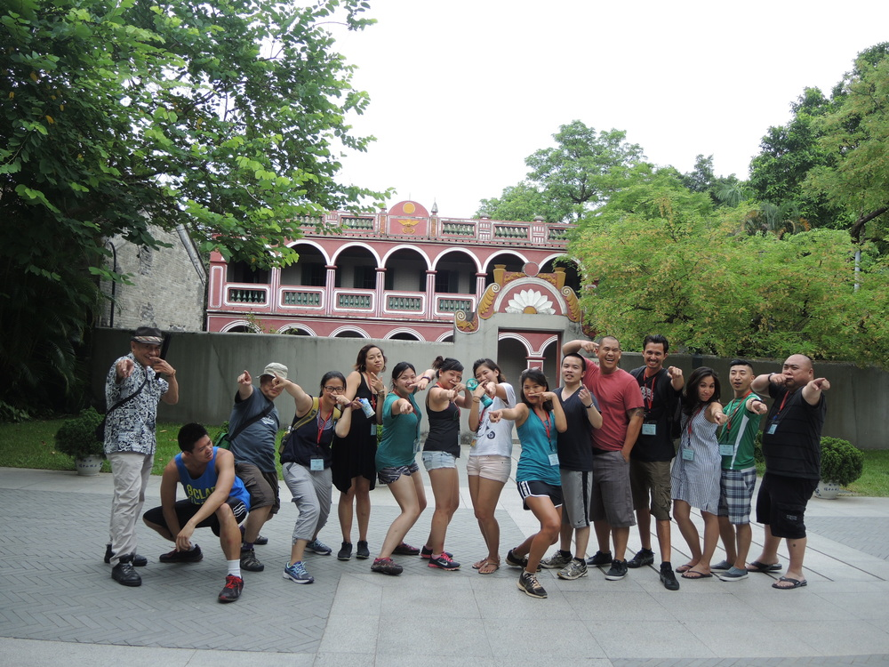 Doing the Jeff pose at Sun Yat Sen Memorial Park in front of the Sun Yat Sen's old home