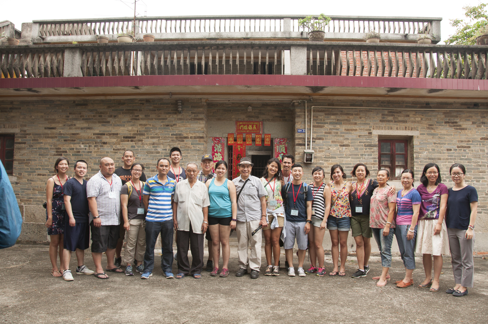 Group photo in front of my grandfather's former home