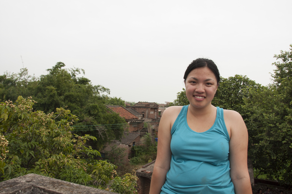 Me on the rooftop of my great-uncle's old house in the village