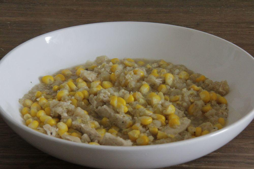 Chicken and corn soup - super, super simple