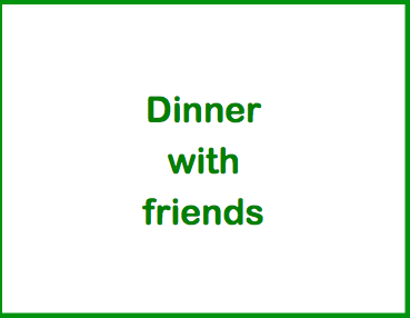 Recipes for one - dinner with friends