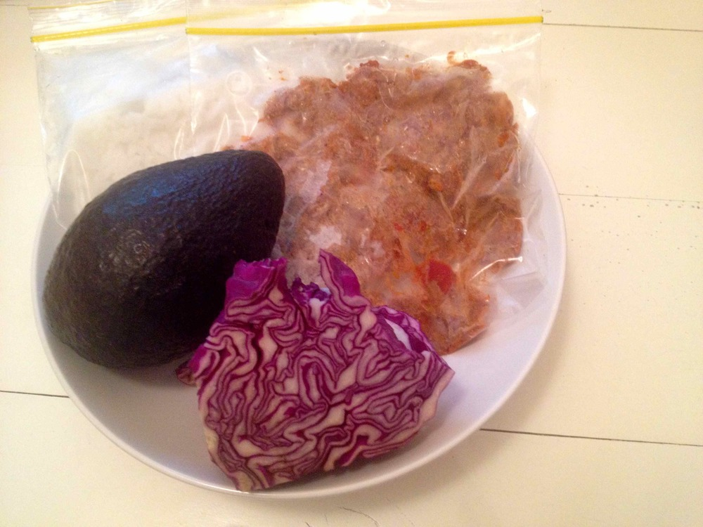 Thursday | Freezer meal. And more red cabbage!