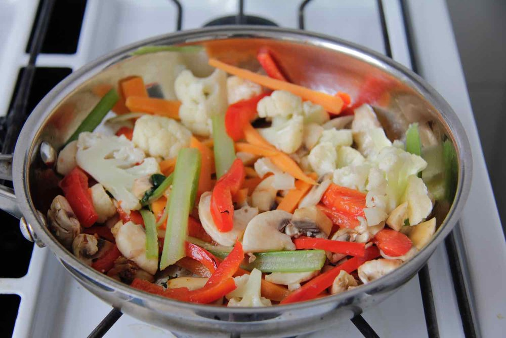 Beef & vegetable stirfry
