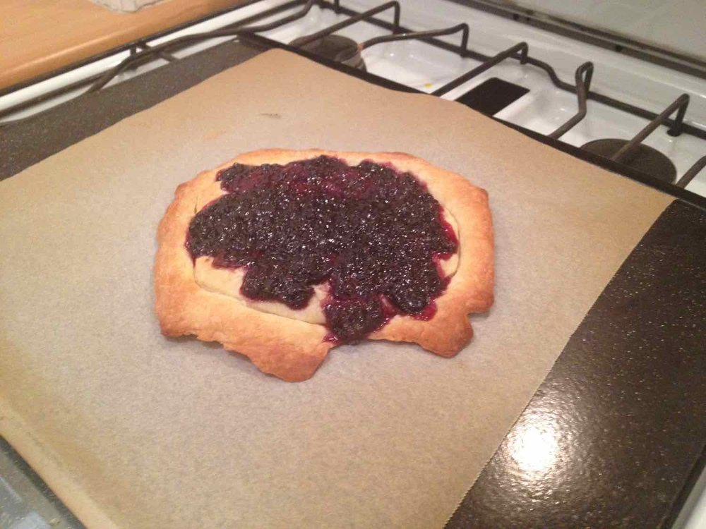 Jam tart for one