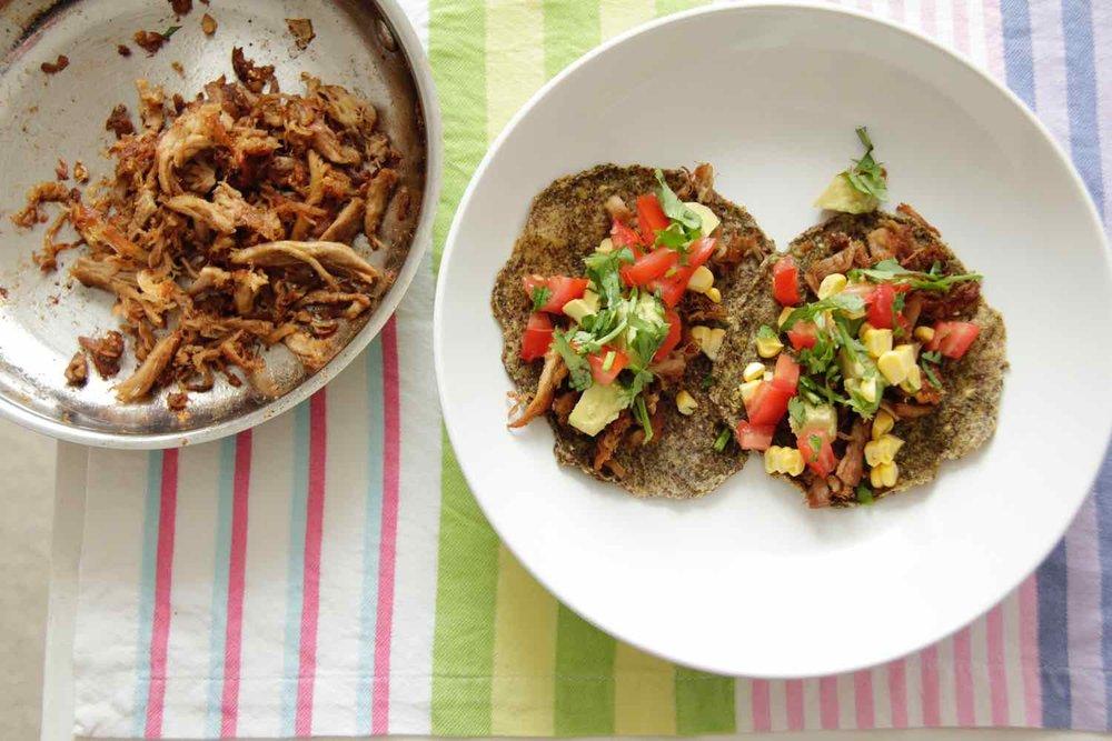 3. Pulled pork tacos -