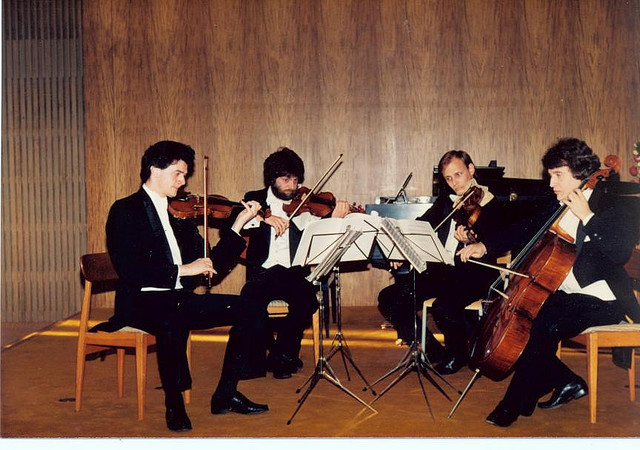 With Vetta String Quartet, 1985