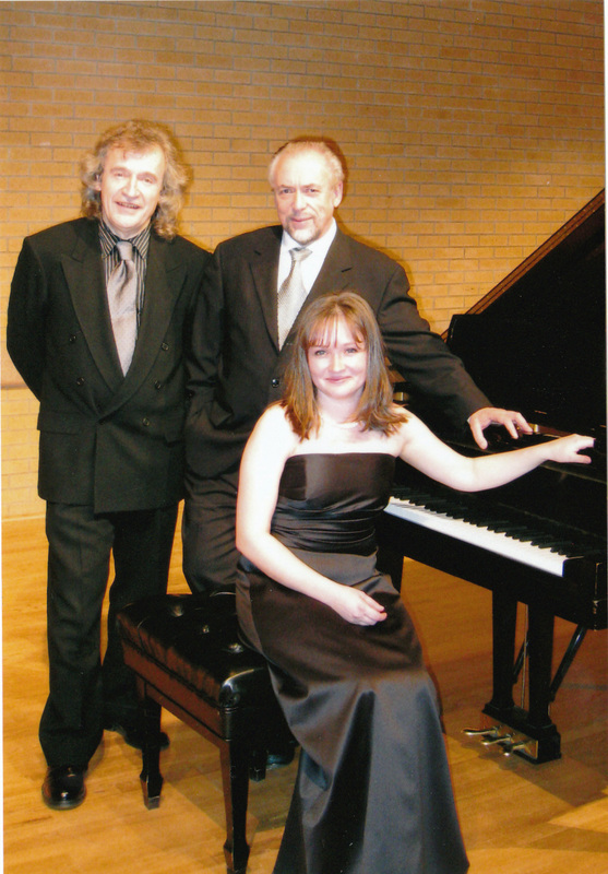 With violinist Emanuel Borok and pianist Anastasia Markina