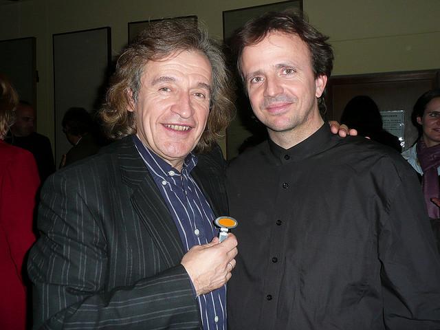 With violinist Frank Stadler