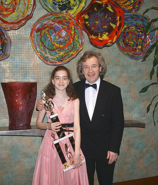 With Shira Beder after Collin County Competition Winners concert
