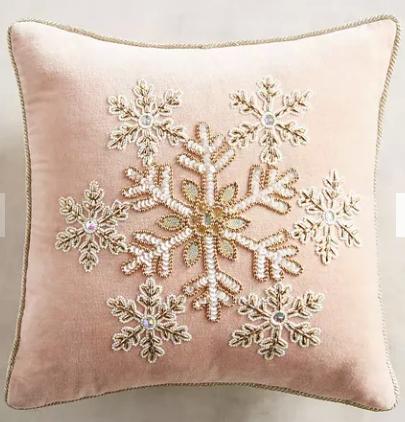 pier 1 pink snowflake pillow