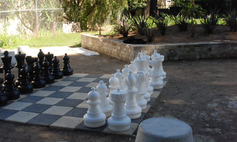 Erskineville playground giant chess