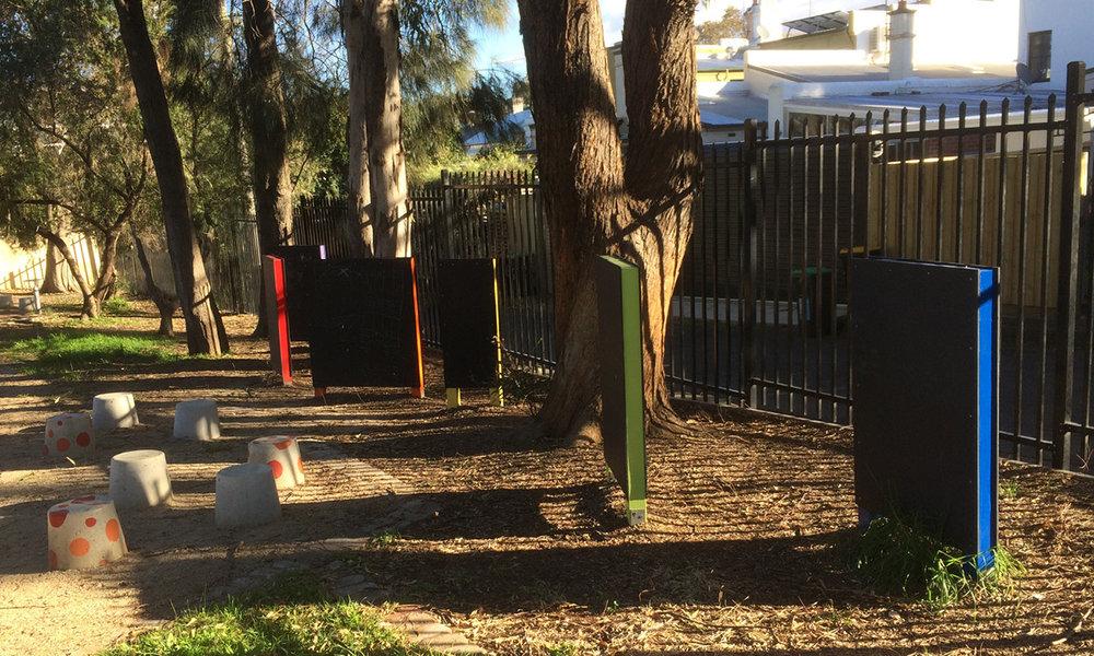Erskineville playground chalkboards