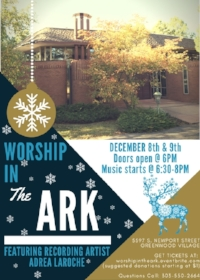Join us for one of two nights at this incredible house for some awesomely festive Christmas and holiday cheer! Tix available on Eventbrite.