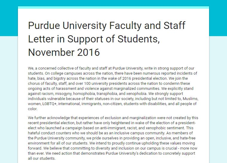 Screenshot of Faculty Support Letter