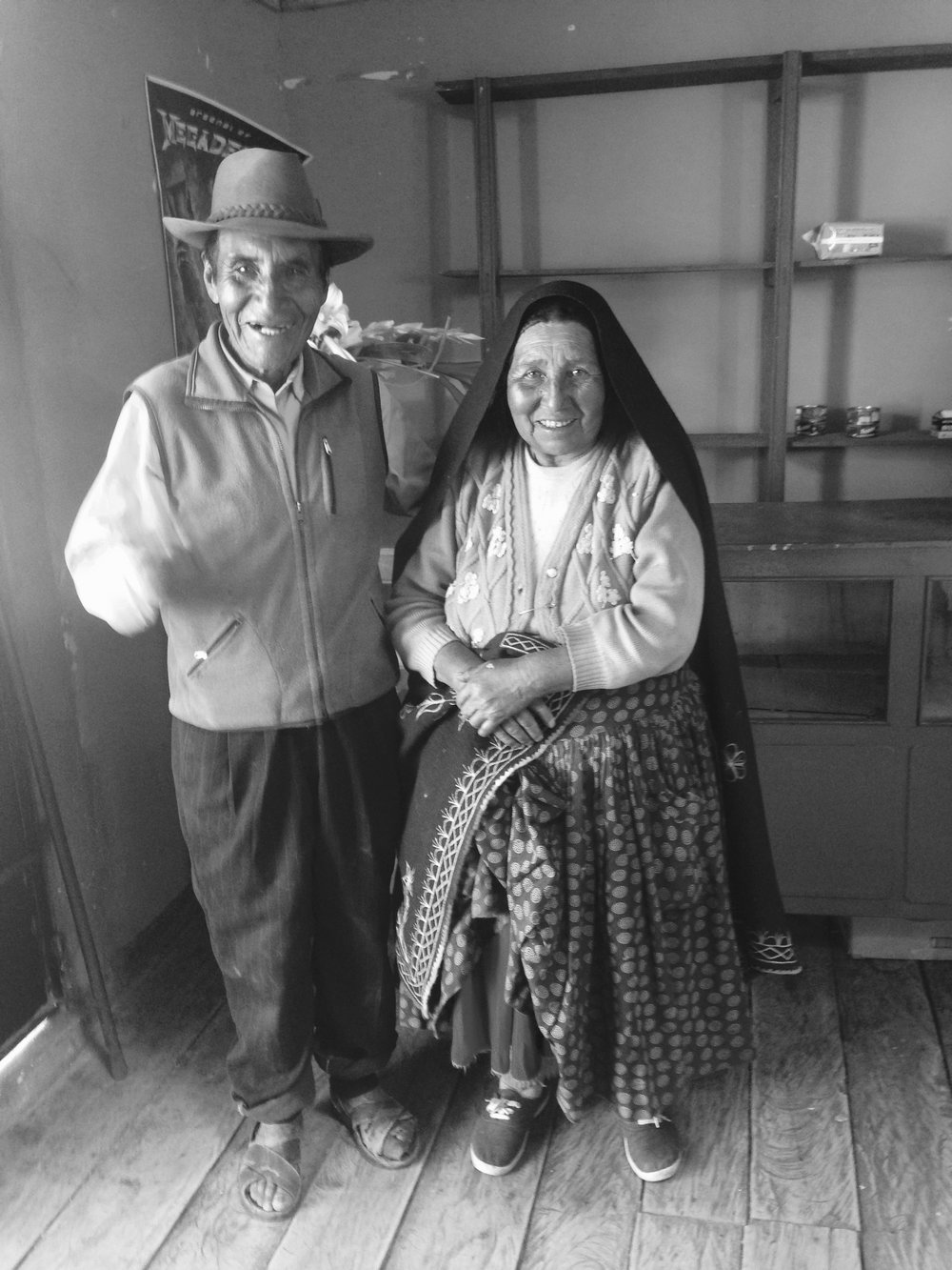 Benedicto and Antonia Pacompia, Island of Amantani, Lake Titicaca, Peru.