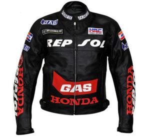770284db649 HONDA Repsol GAS Motorbike Leather Jacket BMJ2911
