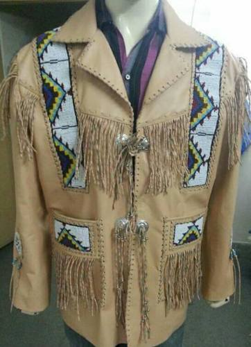 80/'s Vintage Southwestern Denim Vest Suede Leather Artisan Western Wear smmed