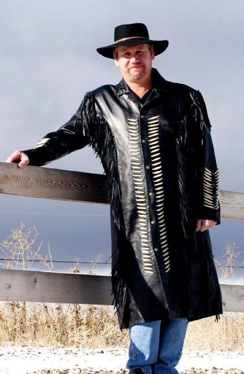mens suede leather jacket western wear cowboy coat fringe bead