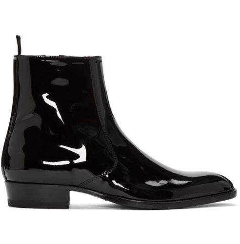 5b02fe85e0f Chelsea Leather Black Ankle Boots CMB-02 — Curvento