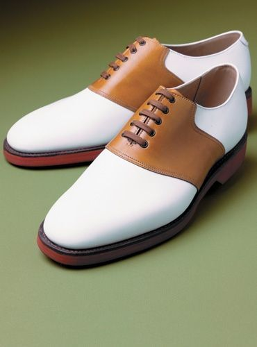 Tan And White Leather Shoes FWS-10