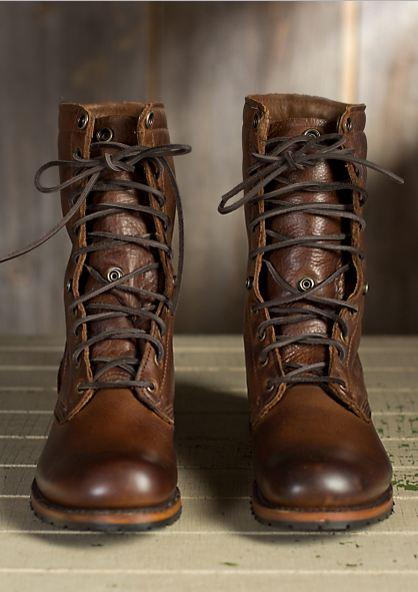 156-1 Men Brown Military Boots 71b54f0868b