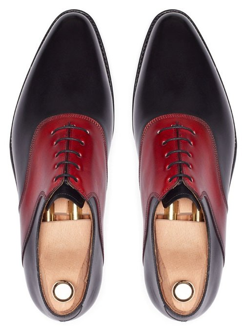 b6792332271 Men Black And Red Dress Shoes FWS-212 — Curvento