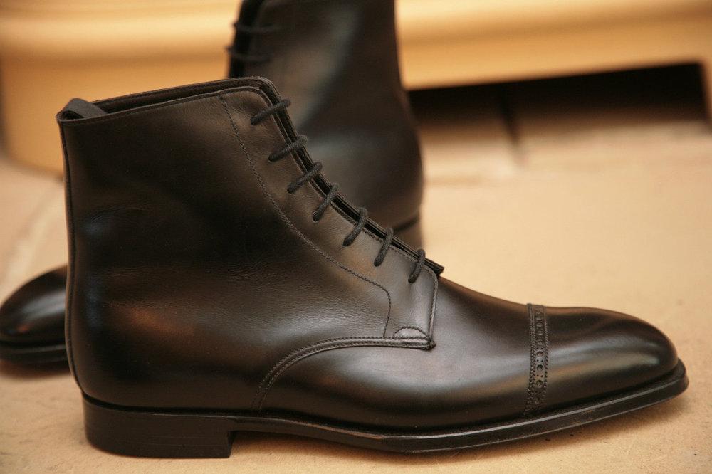 black lace up dress boots