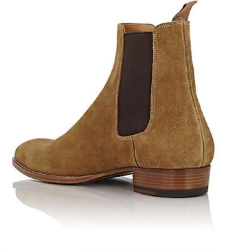 Men Camel Color Suede Ankle Boot CMB