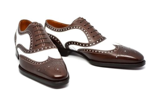 Men Brown And White Formal Dress Shoes Fws 291 Curvento